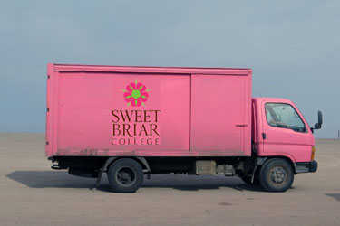 Pink Truck in Kazakhstan